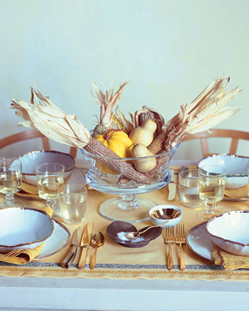 Martha Stewart Thanksgiving Tablescapes