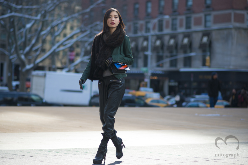 Model Natsumi Aimi at Lincoln Center during New York Fashion Week 2014 Fall Winter NYFW
