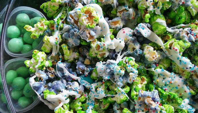 Monster's University Candied Popcorn Party Mix