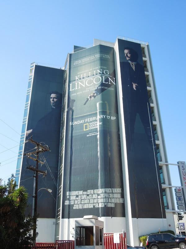 Killing Lincoln giant movie billboard