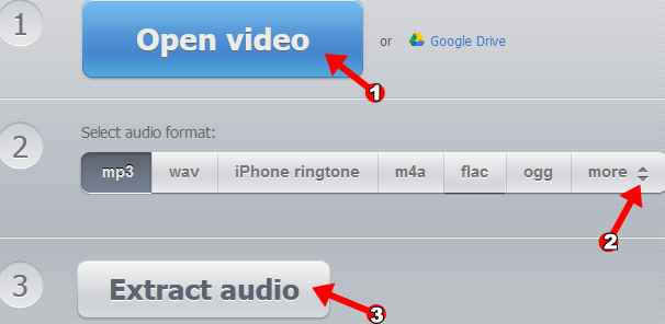 extrage online audio din video