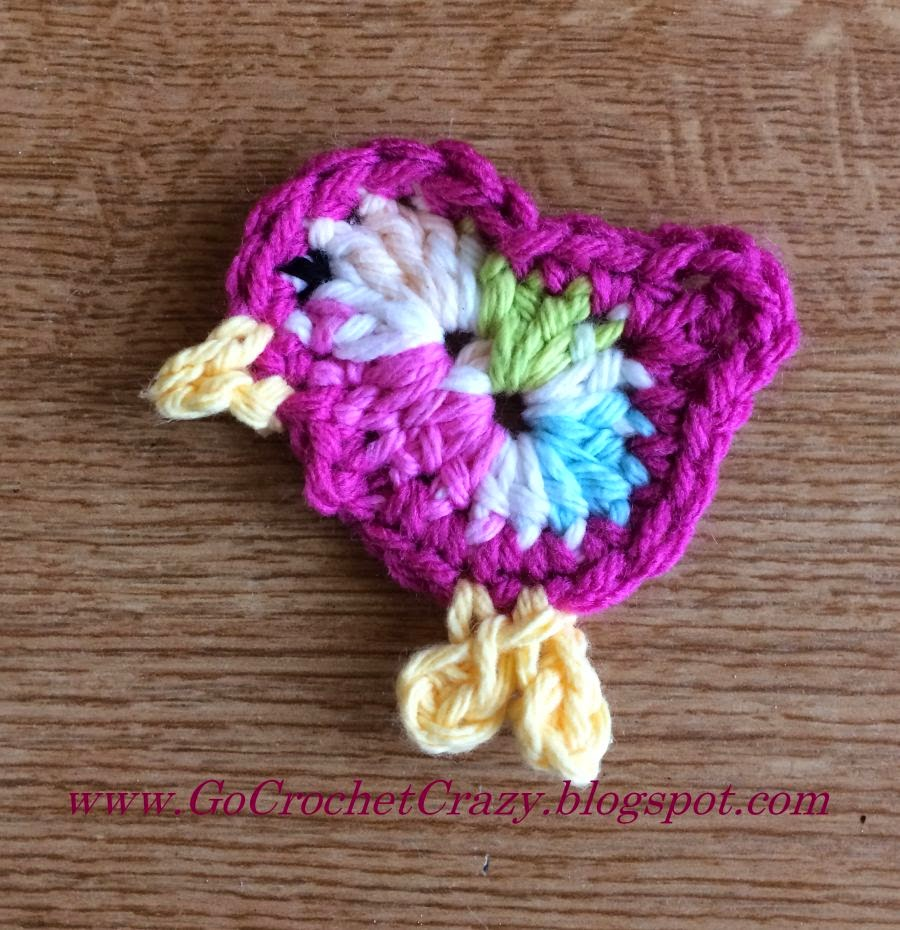 Crochet Bird Pattern by Go Crochet Crazy, free pattern available on blog.