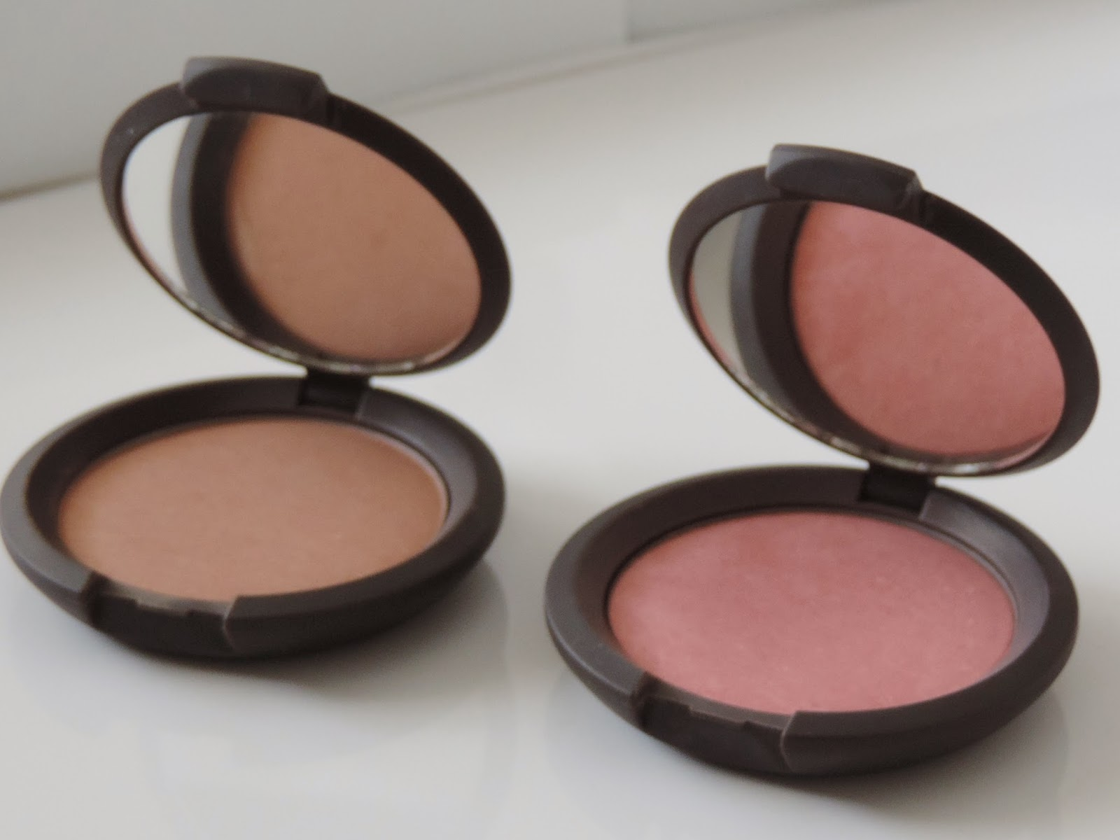 Becca Mineral Blushes (from left) Wild Honey, Flowerchild