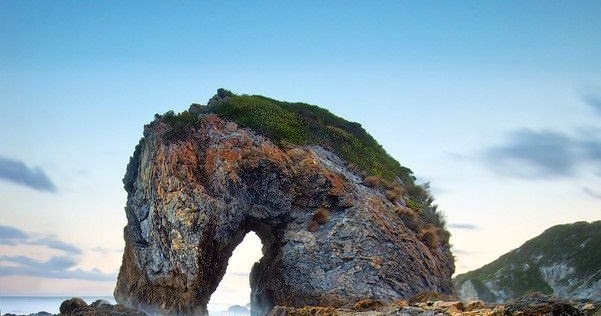 sea horse monumental rocky beach