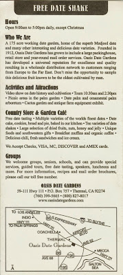 Oasis Date Farms Brochure