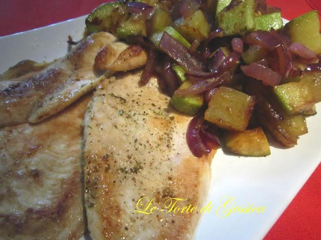 fettine di pollo e verdure leggeri senza grassi