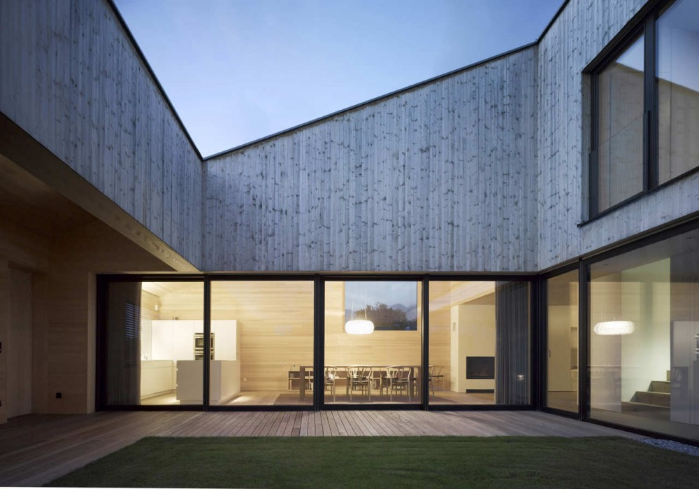 Timber House With Courtyard In The Middle Austria Most