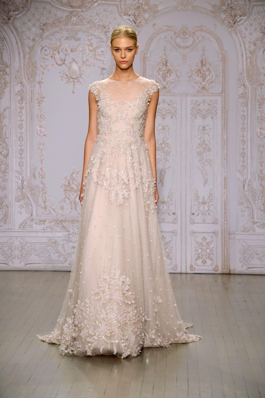 Monique Lhuillier Fall 2015 Wedding Dresses - Runway - World of Bridal