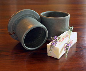 Butter server and lavender honey butter recipe by Lori Buff