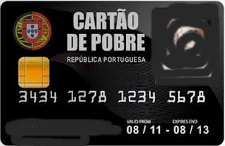cartão de pobre luxo