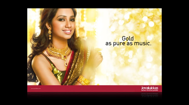 Shreya Ghoshal Joy Alukkas Jewellery Ads