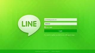 Line pada Win 8