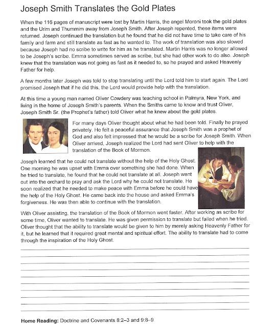 book of mormon seminary manual
