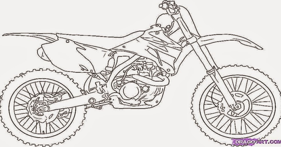 dirt bike coloring pages honda - photo#23