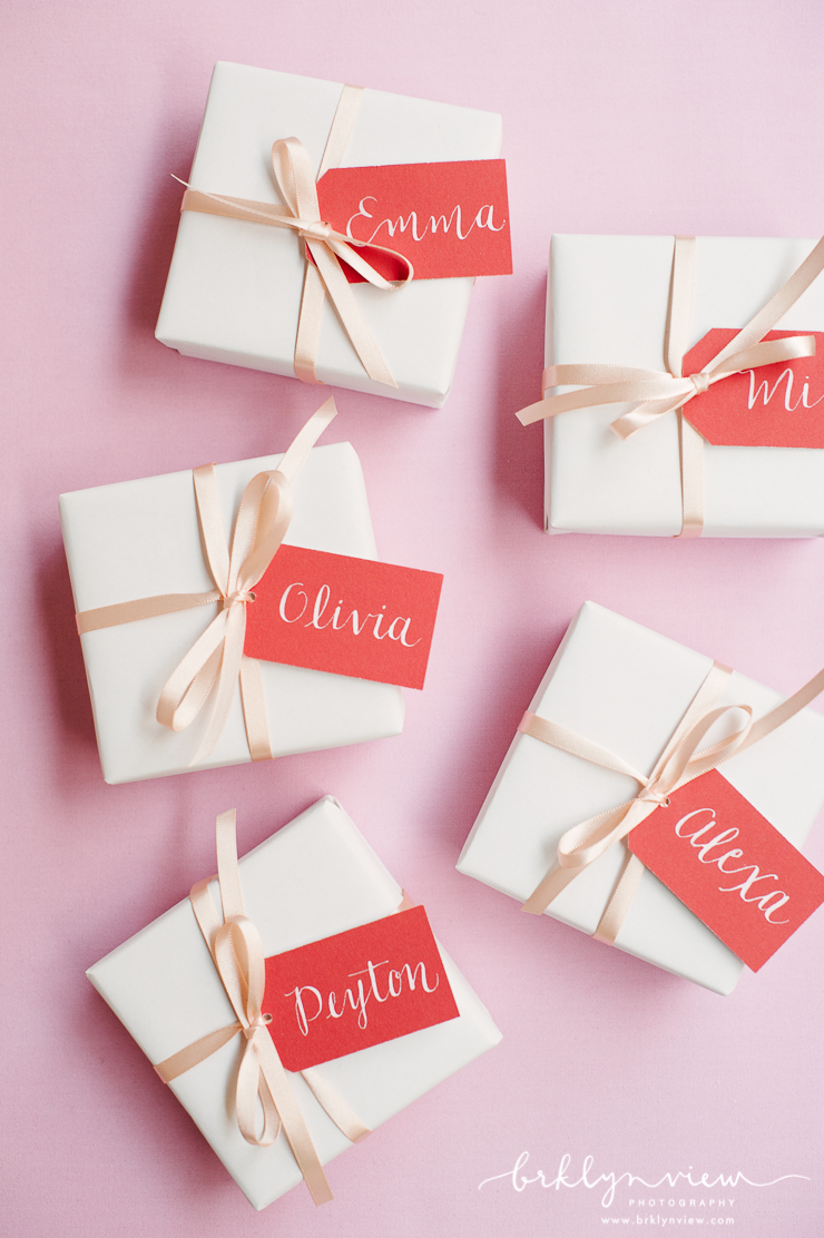 Gift boxes for Bridesmaids