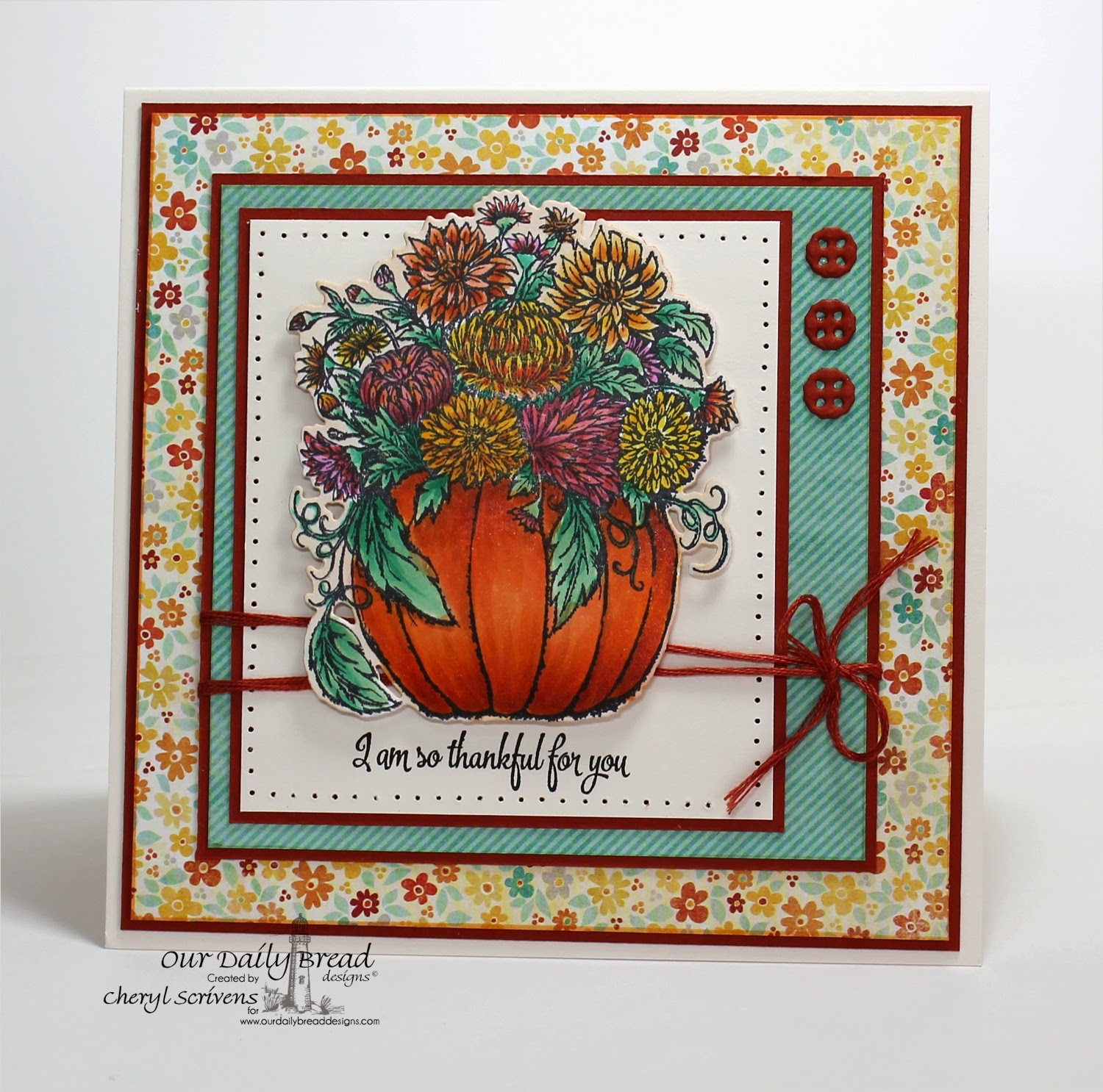 Our Daily Bread Designs, ODBDSLC214, Fall Pumpkin Flowers, Pumpkin & Flowers die, Doily Blessings, Doily dies, CherylQuilts, Designed by Cheryl Scrivens