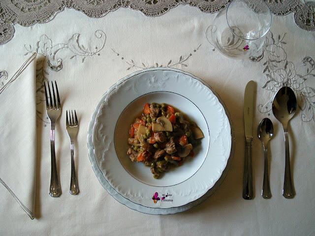 cerdo, magro de cerdo, receta salada, reto tía alia, verduras, ragu,