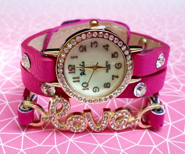 jam tangan wanita motif bunga