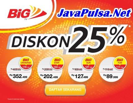 Loket Pembayaran Tagihan BiG TV Java Pulsa Online Termurah Terpercaya 2015