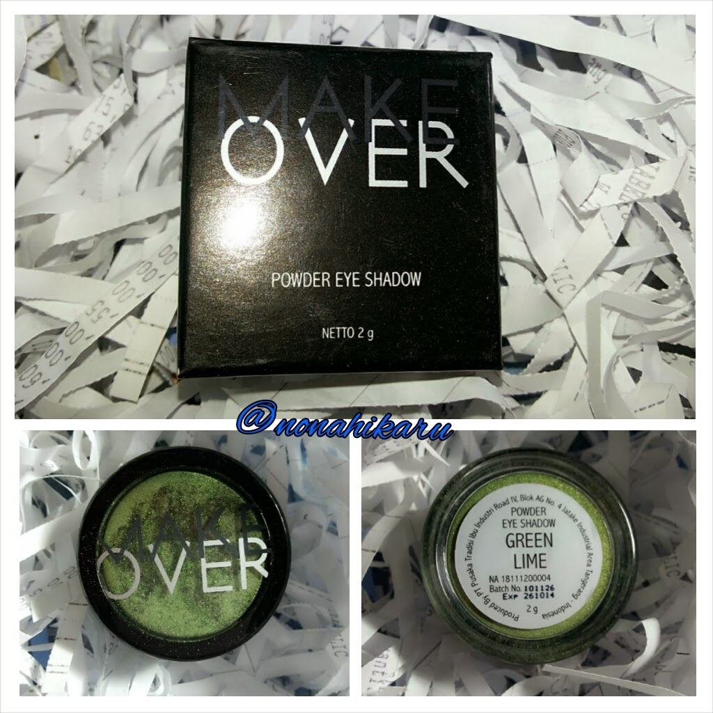 PLAYING WITH MAKE OVER POWDER EYESHADOW GREEN LIME
