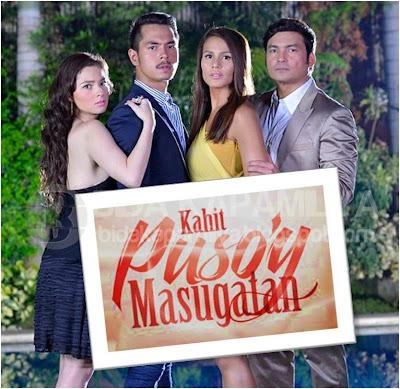 Kahit Puso'y Masugatan lead stars: Andi Eigenmann, Jake Cuenca, Iza Calzado and Gabby Concepcion