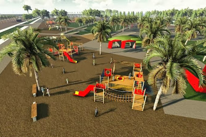 Jasa Desain Wahana Bermain Outdoor Playground Anak Taman Bermain Kindergarten Eksterior