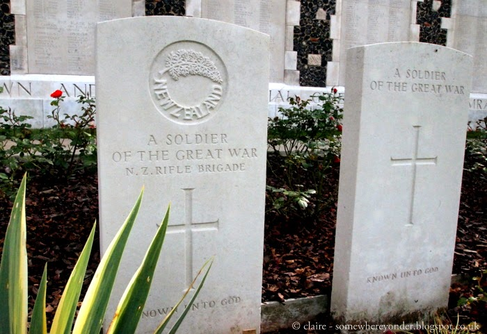 The grave of a unidentified New Zealand soldier in Tyne Cot Cemetery and Memorial Wall, Flanders Fields Belgium