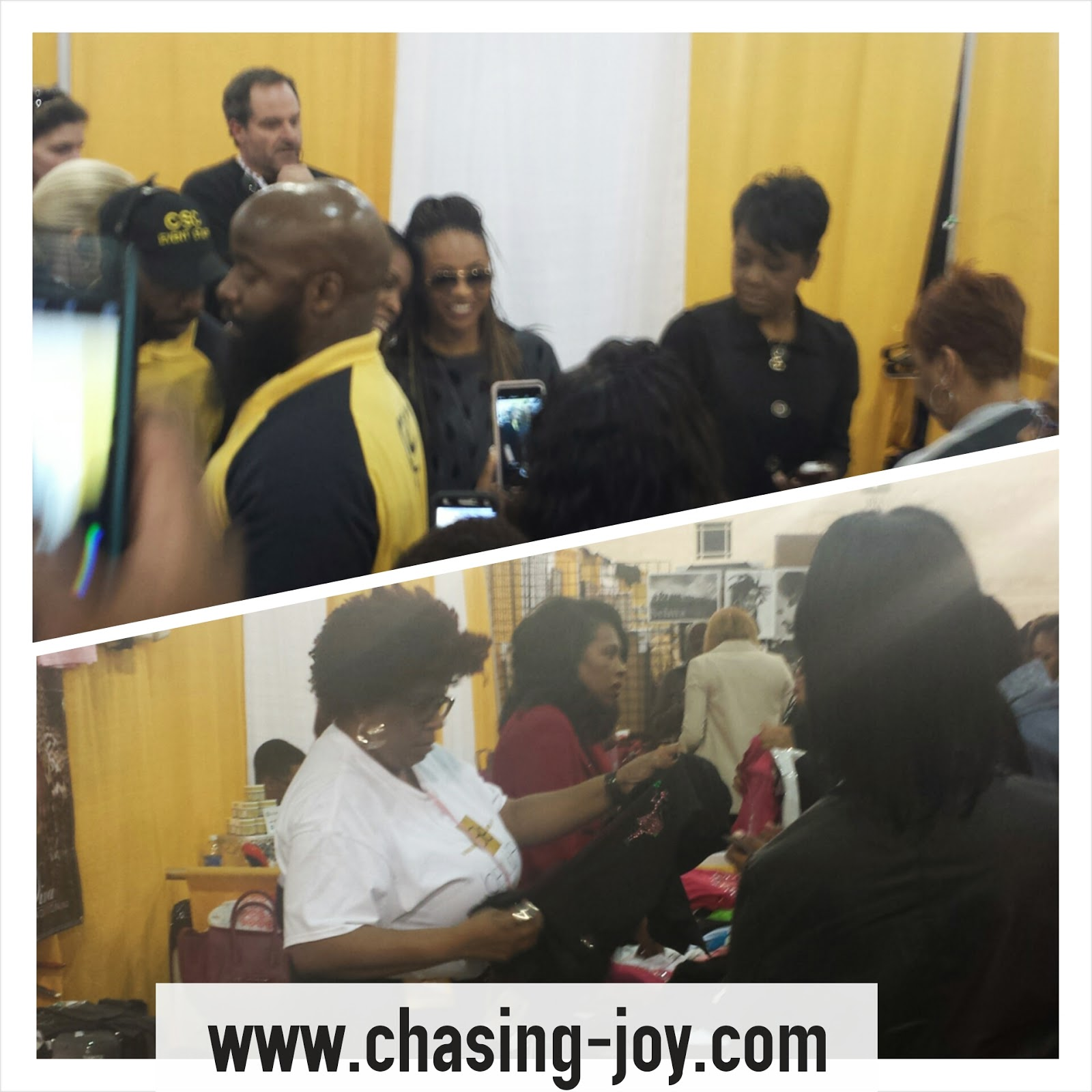 MC Lyte and Sheryl Lee Ralph interacting with #BBXPhilly attendees.