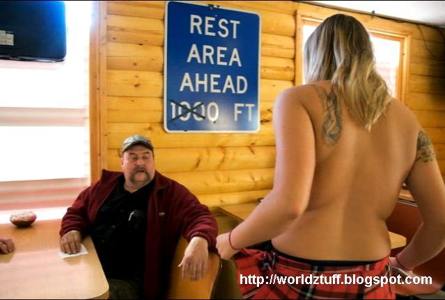Topless coffee shop