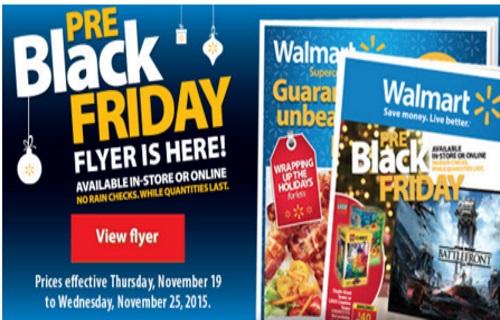 Walmart Pre-Black Friday Flyer