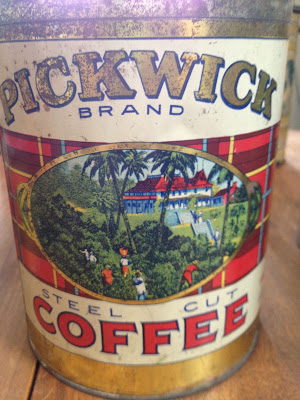 Antique Pickwick Brand Coffee Tin