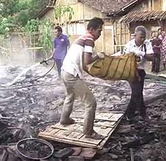 Sebuah Rumah di Ngawi Terbakar, 1 Tewas