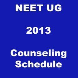 Date Procedure NEET 2013 Counselling Schedule www.cbseneet.nic.in