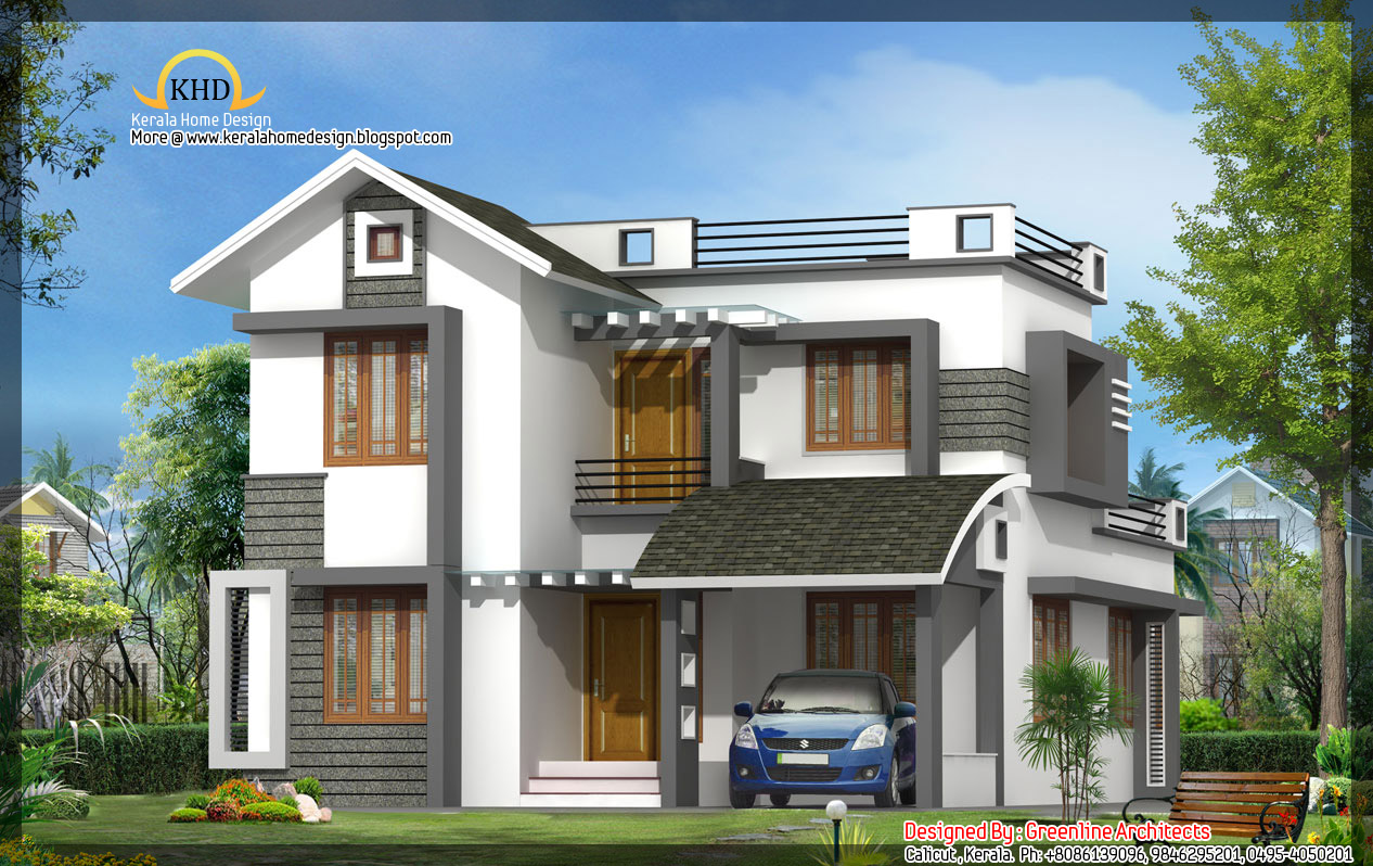 Beautiful villa elevation 1602 sq ft kerala house for Small villa plans in kerala