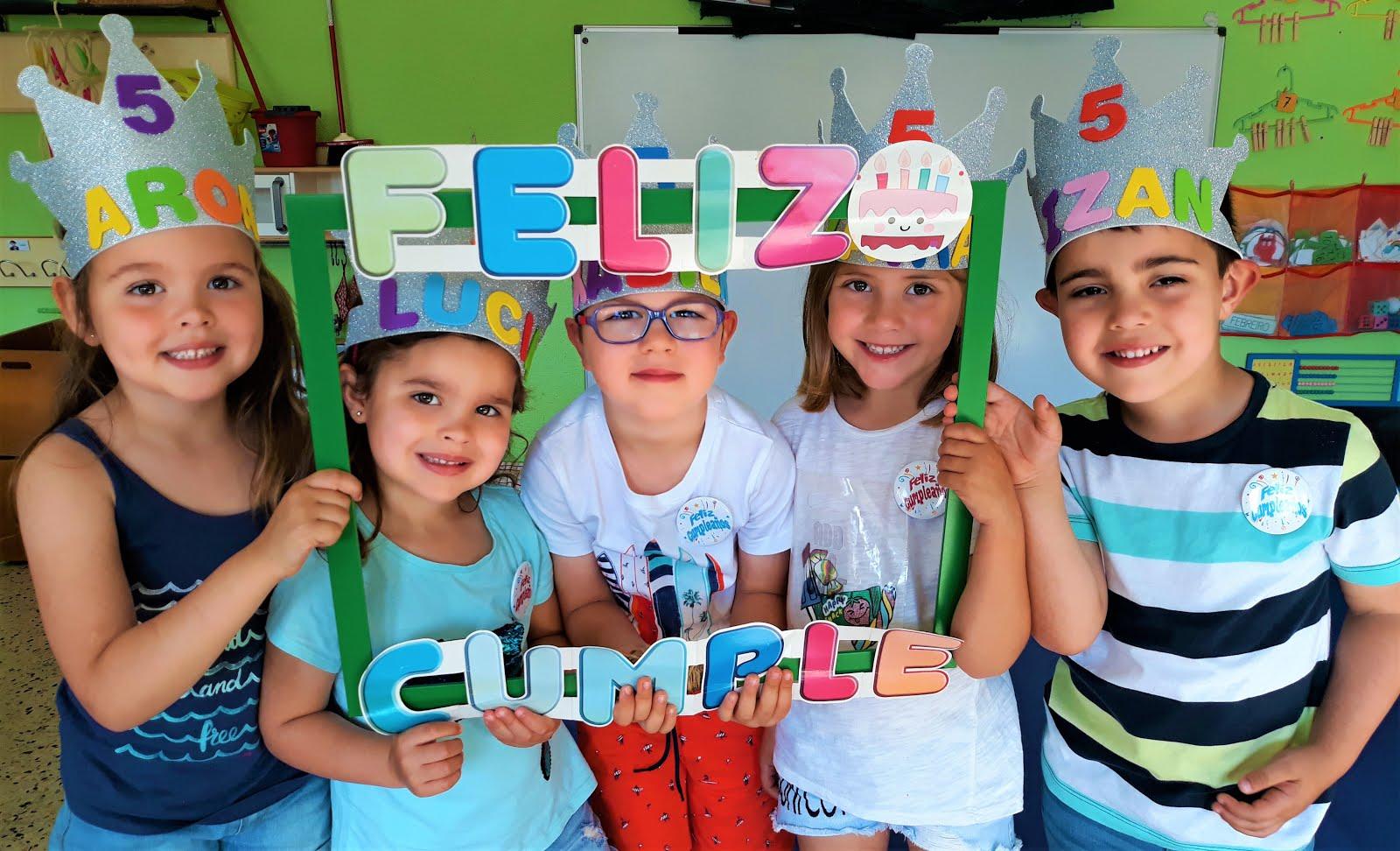 No verán celebramos os aniversarios de Aroa, Lucía, Xabi, Zaira e Izan!