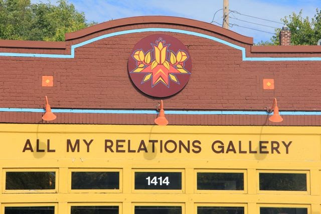 All My Relations Gallery signage