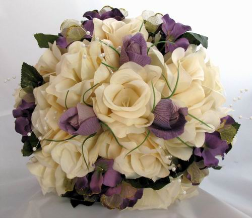 Silk Purple Bridal Bouquets Flowers For Your Bouquet Have Dream Wedding