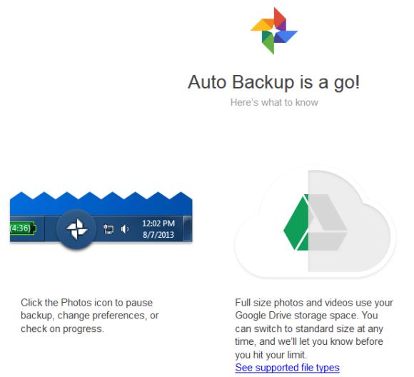 Remove auto backup pictures