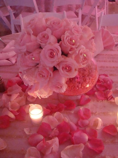 Pink Sweet 16 Centerpiece Ideas