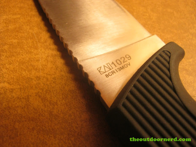 Kershaw Bear Hunter II closeup of blade