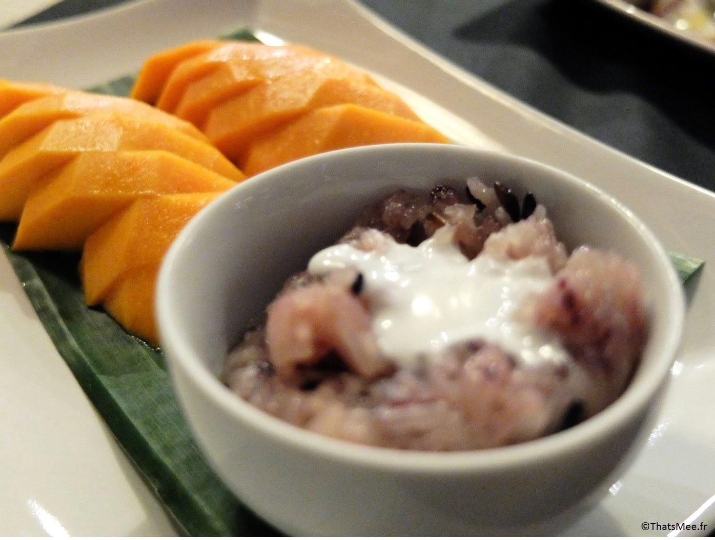 Thai Spices resto Cantine Thaï Paris dessert mangue riz gluant sucré