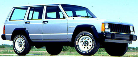 Blue 1984 Jeep Cherokee