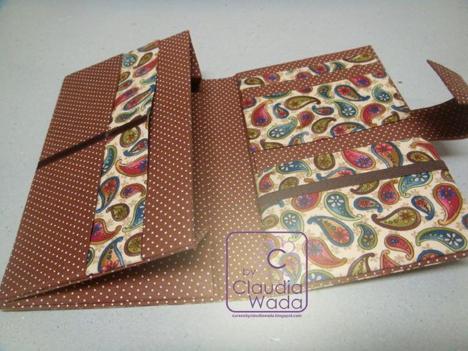 Bolsa De Mao Em Cartonagem Passo A Passo : Cursos by claudia wada carteira grande em cartonagem