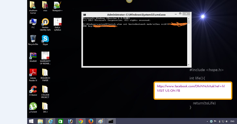how to create wifi hotspot in windows xp using cmd