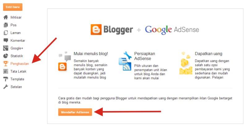 Cara Mendaftar di Google Adsense