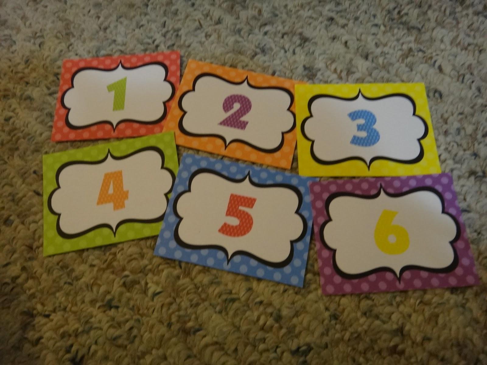 First Grade Garden: Rainbow Classroom Labels