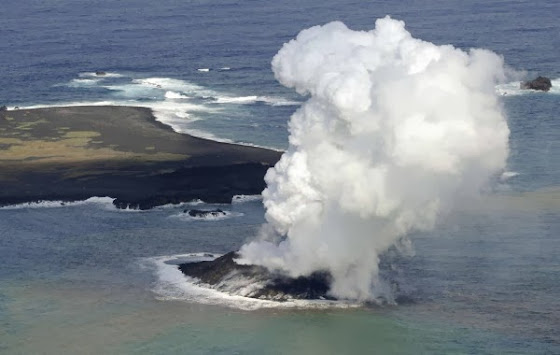 Ηφαιστειακή έκρηξη γέννησε νησάκι στην Ιαπωνία [Βίντεο]