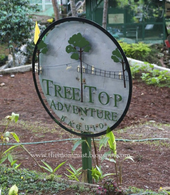 Tree Top Adventure Baguio Signage