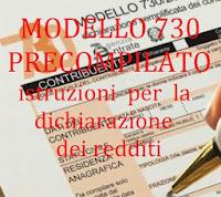 istruzioni modello 730 per dichiarazione dei redditi