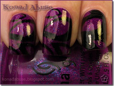 China Glaze Flying Dragon (Neon) and Bundle Monster BM207
